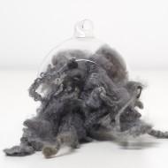 Grey Wool Curls and Locks 10 Grams