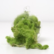 Green Wool Curls and Locks 10 Grams