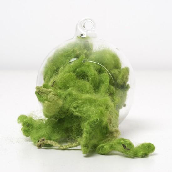 Green Wool Curls and Locks 10 Grams