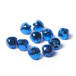 10mm Metal Bells Blue-Pack of 10