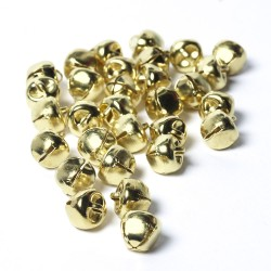 10mm Metal Bells Gold-Pack of 10