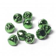 10mm Metal Bells Green-Pack of 10