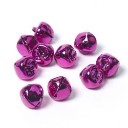 10mm Metal Bells Pink-Pack of 10