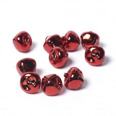 10mm Metal Bells Red-Pack of 10