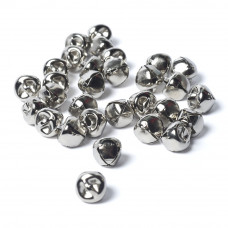 10mm Metal Bells Silver-Pack of 10