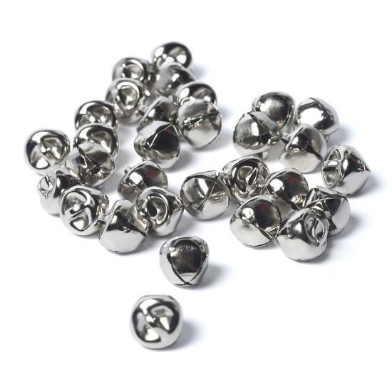10mm Metal Bells Silver-Pack of 10