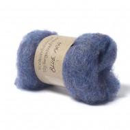 Carded Bergschaf and Maori Melange Wool- Blue Ara