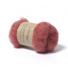 Carded Bergschaf and Maori Melange Wool- Corniola Pink