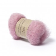 Carded Bergschaf and Maori Melange Wool- Dust-Pink