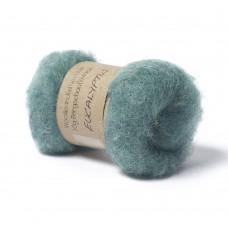 Carded Bergschaf and Maori Melange Wool- Eucalyptus-Aqua