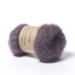 Carded Bergschaf and Maori Melange Wool -Klimt Purple