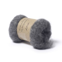 Carded Bergschaf and Maori Melange Wool- Lava Grey