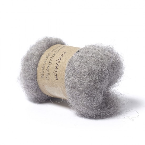 Carded Bergschaf and Maori Melange Wool- London Grey
