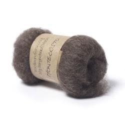 Carded Bergschaf and Maori Melange Wool -Montecristo Brown