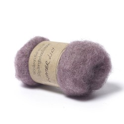 Carded Bergschaf and Maori Melange Wool- Water Lily Purple