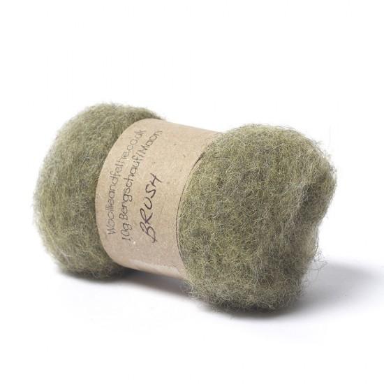 Carded Bergschaf and Maori Melange Wool- Brush-Green