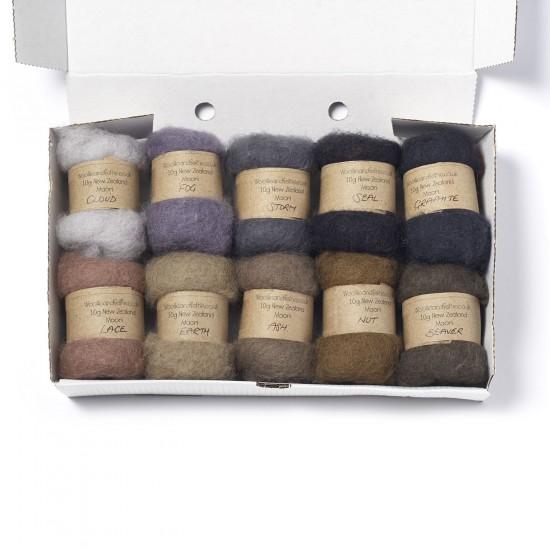 Carded New Zealand Maori Wool Box Set -Animal Hues