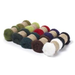 Carded New Zealand Maori Wool Box Set Christmas Hues