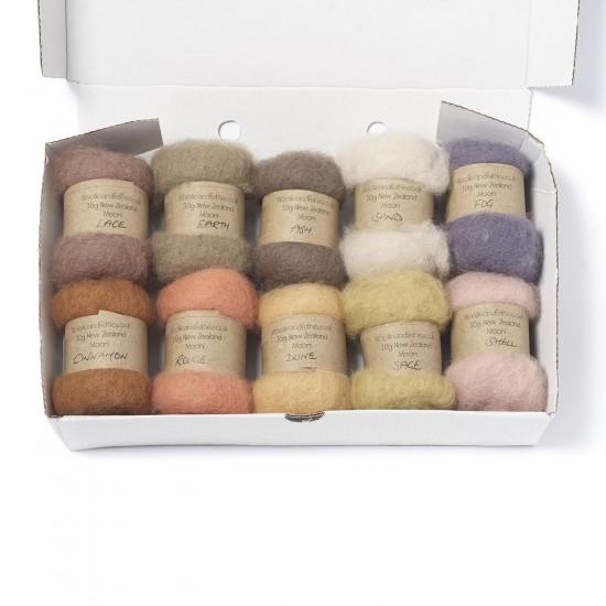 Carded New Zealand Maori Wool Box Set -Natural Hues