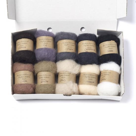 Carded New Zealand Maori Wool Box Set -Neutral Hues