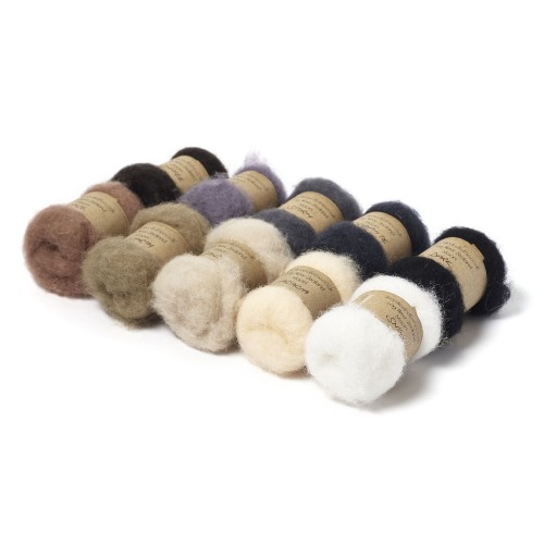 Carded New Zealand Maori Wool Box Set -Neutral Hues