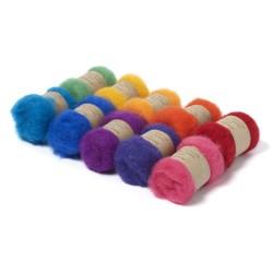 Carded New Zealand Maori Wool Box Set Rainbow Hues