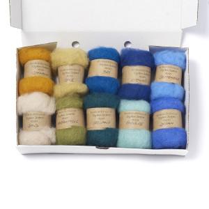 Carded New Zealand Maori Wool Box Set -Seaside Hues