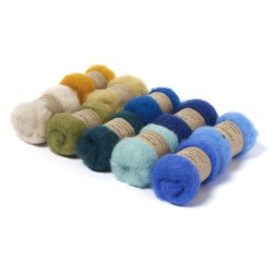Carded New Zealand Maori Wool Box Set -Seaside Hues