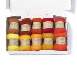 Carded New Zealand Maori Wool Box Set Sunset Hues