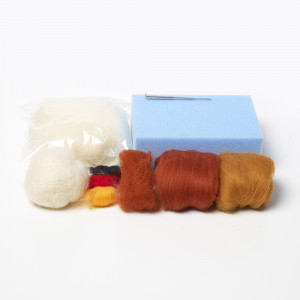 Cluckie chicken needle felting kit