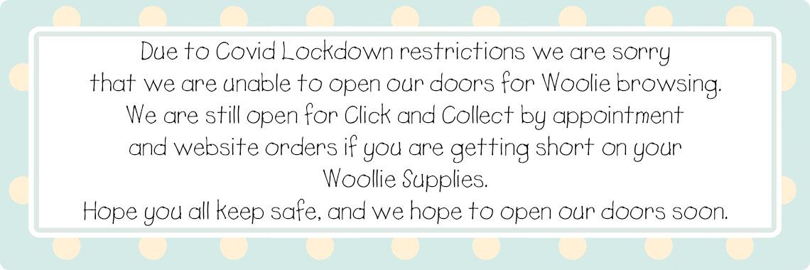 Woollie and Feltie Covid lockdown
