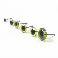 Green Glass Eyes  3mm-12mm