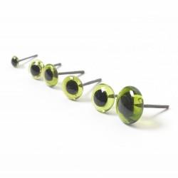 Green Glass Eyes  3mm-12mm
