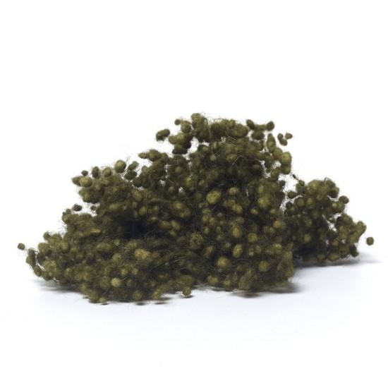 Dark Olive Green Wool Nepps