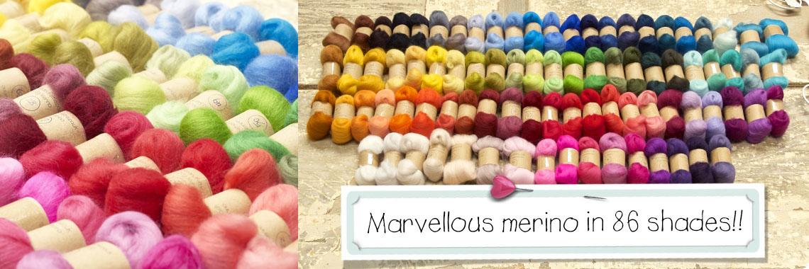 Merino needle and wet felting wool