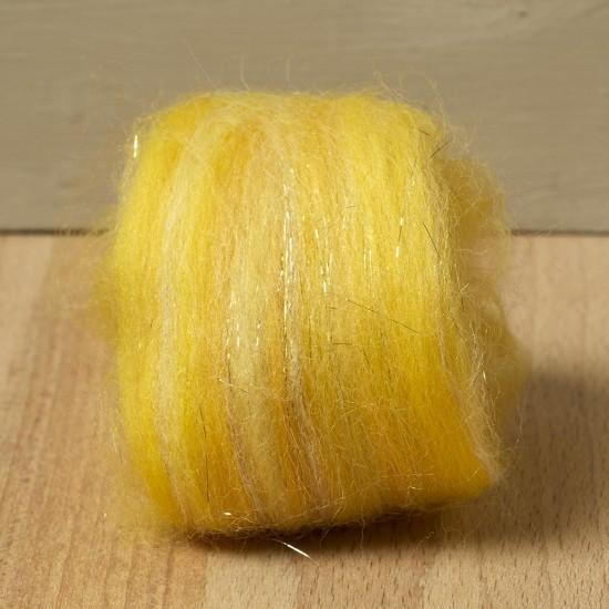 Twinkle Merino Wool Top Gold 25 Grams