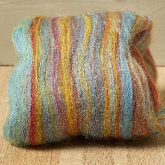 Twinkle Merino Wool Top Rainbow 25 Grams