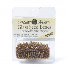 Mill Hill Glass Seed Beads- Light Amber 02040