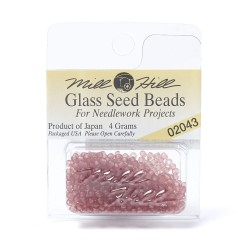Mill Hill Glass Seed Beads- Matte Pomegranate 02043
