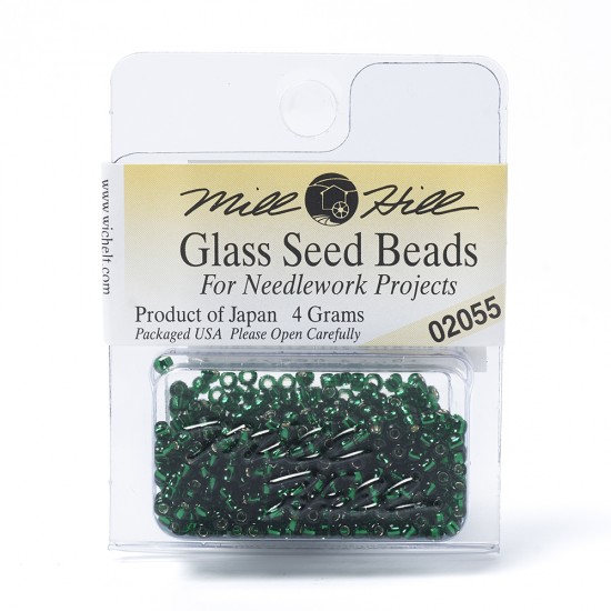 Mill Hill Glass Seed Beads- Mint Green 02055