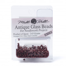 Mill Hill Glass Seed Beads- Antique Cranberry 03003