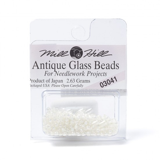 Mill Hill Glass Seed Beads- Shiny White 03041
