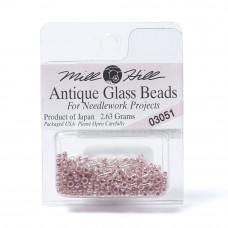 Mill Hill Glass Seed Beads- Antique Misty Pink 03051