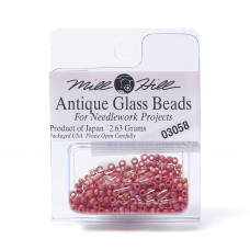 Mill Hill Glass Seed Beads- Mardigras Red 03058