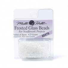 Mill Hill Glass Seed Beads- Frosted White 60479