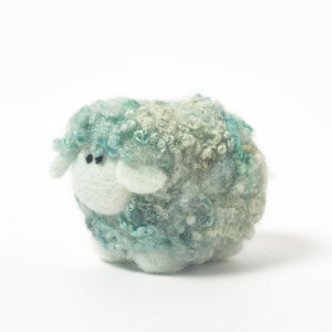 Mint ice cream woollie  needle felting kit
