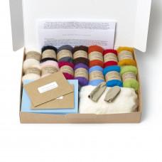Carded New Zealand Maori Wool Needle Felting Starter Kit