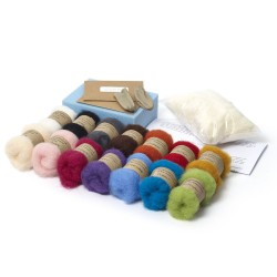 Carded New Zealand Maori Wool Needle Felting Starter Kit