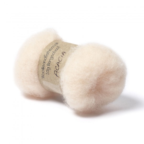 Carded Bergschaf Wool -Acacia
