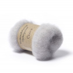 Carded Bergschaf Wool -Cloud
